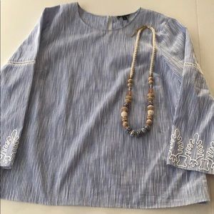Stella & Dot Capri Top & Abriana Necklace SZ LG